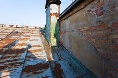Oud dak van St. Petersburg Royalty-vrije Stock Foto