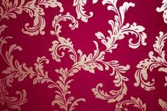Oud damastbehang Royalty-vrije Stock Afbeelding