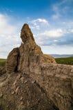 Oud de Grote Muur in Gansu, China stock foto's