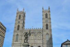 Oud de Havendistrict van Montreal van het Maisonneuvestandbeeld Royalty-vrije Stock Afbeelding