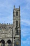 Oud de Havendistrict van Montreal van het Maisonneuvestandbeeld Stock Afbeeldingen