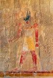 Oud de kleurenbeeld van Egypte van anubis Stock Afbeelding