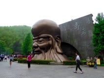 Oud de mensenstandbeeld van de Nanshanlevensduur Stock Fotografie