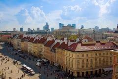 Oud de stad in van Warshau, Polen Royalty-vrije Stock Foto's