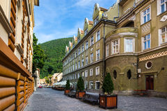 Oud de stadscentrum â Roemenië van Brasov â Stock Foto's