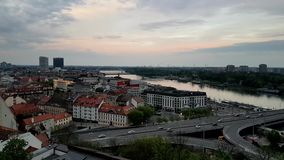 Oud de stadscentrum van Bratislava, Slowakije stock video