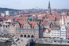Oud de stadsoverzicht van Gdansk Royalty-vrije Stock Foto