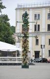21.2014-oud de stadsplein van Kaunasaugustus in Kaunas in Litouwen Stock Foto's