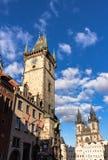 Oud de stadsvierkant van Praag Stock Foto's