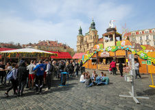 Oud de Stadsvierkant van Praag - St Nicholas Church Royalty-vrije Stock Foto