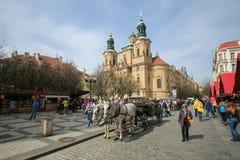 Oud de Stadsvierkant van Praag - St Nicholas Church Royalty-vrije Stock Afbeelding