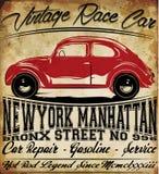 Oud de T-shirt Grafisch Ontwerp van de Auto Uitstekend Klassiek Retro mens Royalty-vrije Stock Foto
