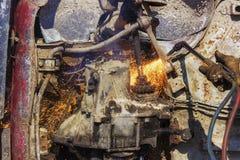 Oud de vlamknipsel van de automotor Stock Fotografie