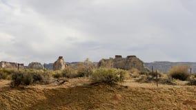 Oud de Woestijnlandschap van Arizona van Wilde Westennen stock video