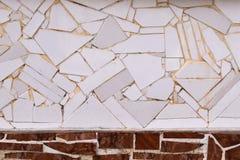 Oud decoratief mozaïek van tegelfragment Stock Foto