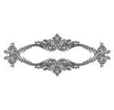 Oud decoratief zilveren die kader op wit wordt geïsoleerd Royalty-vrije Stock Foto