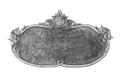 Oud decoratief zilveren die kader op wit wordt geïsoleerd Stock Foto