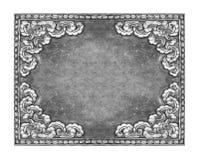 Oud decoratief zilveren frame Royalty-vrije Stock Fotografie