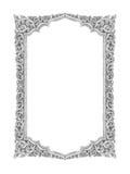 Oud decoratief zilveren met de hand gemaakt kader -, gegraveerd die - op w wordt geïsoleerd Royalty-vrije Stock Afbeeldingen