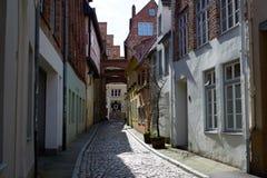 Oud deel van Lübeck duitsland royalty-vrije stock fotografie