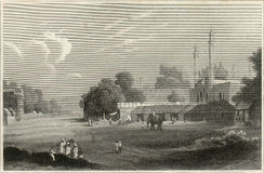 Oud Delhi ets royalty-vrije stock afbeelding