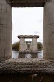Oud destructed brug Royalty-vrije Stock Afbeeldingen