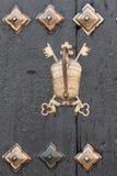Oud deurdetail Carmona, Sevilla, Spanje Stock Fotografie