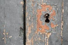 Oud Deurslot, Close-upachtergrond Stock Afbeelding