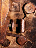 Oud deurslot - detail Stock Fotografie