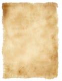 Oud die document op wit wordt geïsoleerdo Stock Foto
