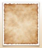 Oud die document op witte XXL wordt geïsoleerd Royalty-vrije Stock Afbeelding