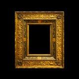 Oud oud die het schilderen kader op zwarte wordt geïsoleerd Royalty-vrije Stock Foto's