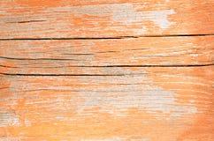 Oud die hout als achtergrond met rode verf wordt geschilderd Stock Afbeelding