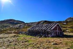 Oud die huis van rotsen wordt gemaakt Royalty-vrije Stock Fotografie