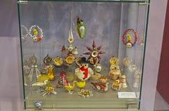 Oud die Kerstmisspeelgoed in Duitsland en Tsjecho-Slowakije wordt gemaakt Royalty-vrije Stock Afbeeldingen