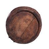 Oud die vat van hout wordt gemaakt stock afbeelding