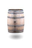 Oud die Wijnvat op Witte Achtergrond wordt geïsoleerd Royalty-vrije Stock Foto's
