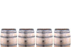 Oud die Wijnvat op Witte Achtergrond wordt geïsoleerd Royalty-vrije Stock Foto