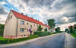 Oud district in de voorsteden van Koszalin Polen Royalty-vrije Stock Afbeeldingen