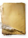 Oud document stock illustratie