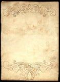 Oud Document 3 Stock Foto