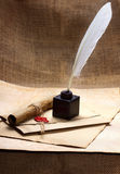 Oud document Stock Foto's
