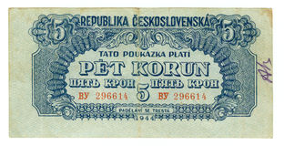 Oud document bankbiljetgeld Royalty-vrije Stock Fotografie