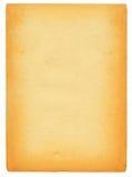 Oud document dat op wit wordt geïsoleerde royalty-vrije stock afbeelding