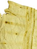 Oud document dat op wit wordt geïsoleerde Stock Afbeeldingen