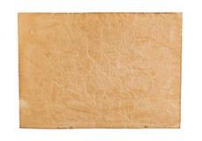 Oud document dat op witte achtergrond wordt geïsoleerdv Hoogste mening Stock Foto