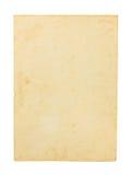Oud document dat op witte achtergrond wordt geïsoleerdv Stock Afbeeldingen