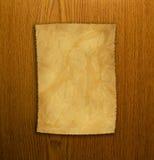 oud document en bruine houten textuur Royalty-vrije Stock Afbeeldingen