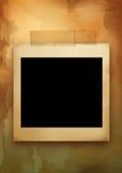 Oud document en leeg frame Royalty-vrije Stock Afbeeldingen