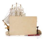 Oud document en overzees concept Stock Afbeelding